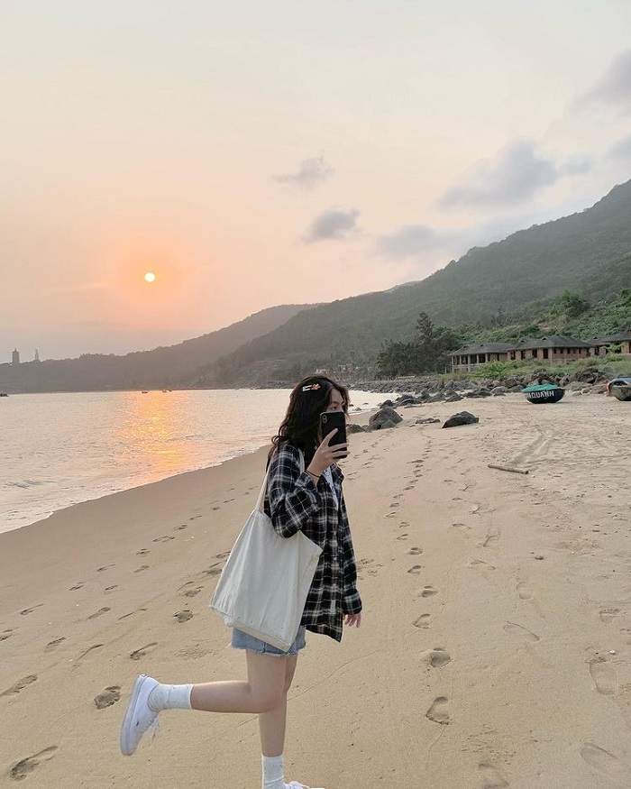 Ngắm bình minh ở Bãi Rạng Đà Nẵng