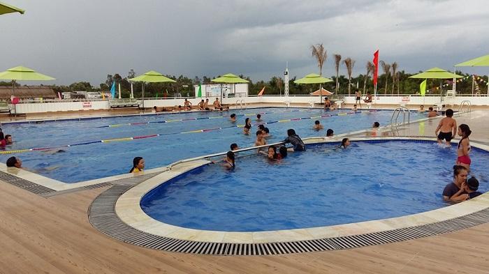 Ca Mau international eco-tourism area - swimming pool