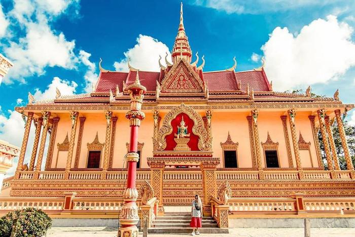 Check in chùa Pisesaram - Miền Tây có nhiếu ngôi chùa Khmer