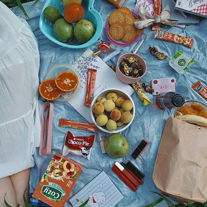picnic- - hoạt động được yêu thích tại Vườn bách thảo Hà Nội