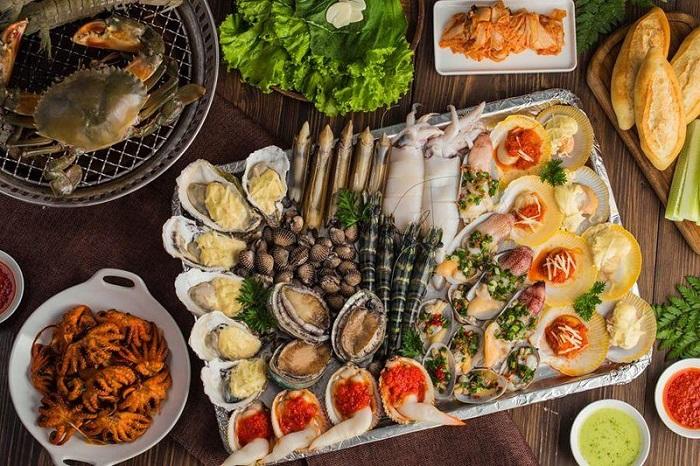 Delicious seafood restaurants in Tay Ninh - Hai Dao seafood restaurant menu