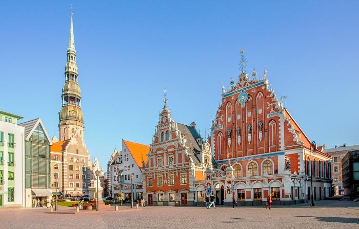 Thủ đô Riga của Latvia - Thị trấn thời trung cổ ở Châu Âu