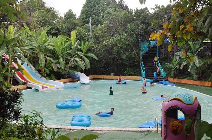 Swimming pool in Nhan Tam ecological area