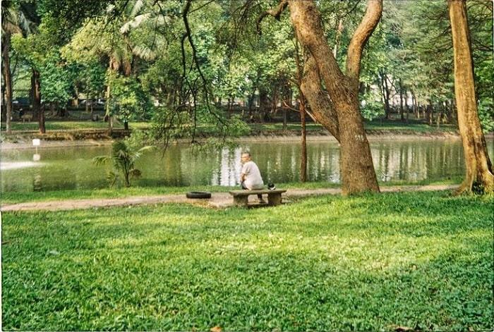 hồ nước - điểm nhấn của Vườn bách thảo Hà Nội