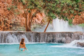 Vẻ đẹp thơ mộng bậc nhất của thác nước Havasu nước Mỹ