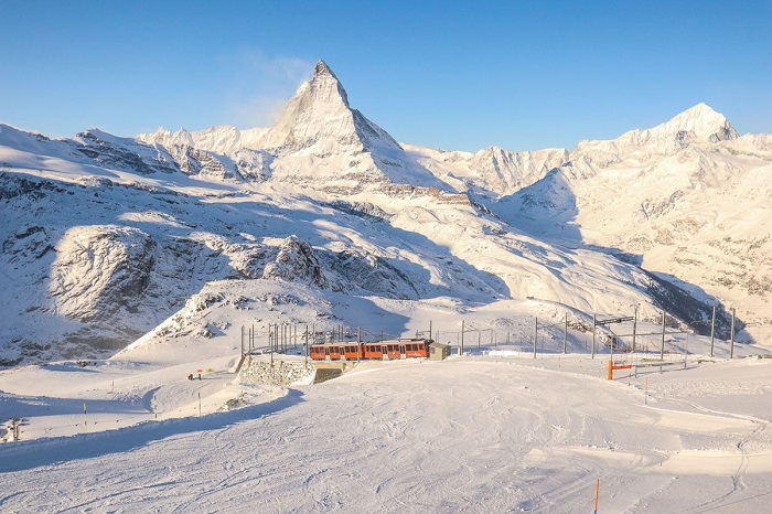 Go to Gornergrat to explore winter in Zermatt Switzerland