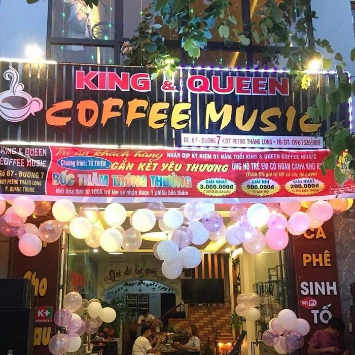 Quán King of Queen Coffee - Địa chỉ quán cà phê Thái Bình luôn đông khách