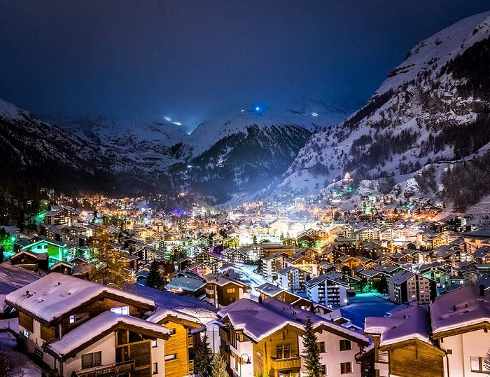What is winter in Zermatt but white snow?