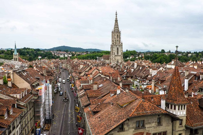 Seeing the view of Old Bern from inside the Clock Tower is one of Bern Switzerland's travel experiences