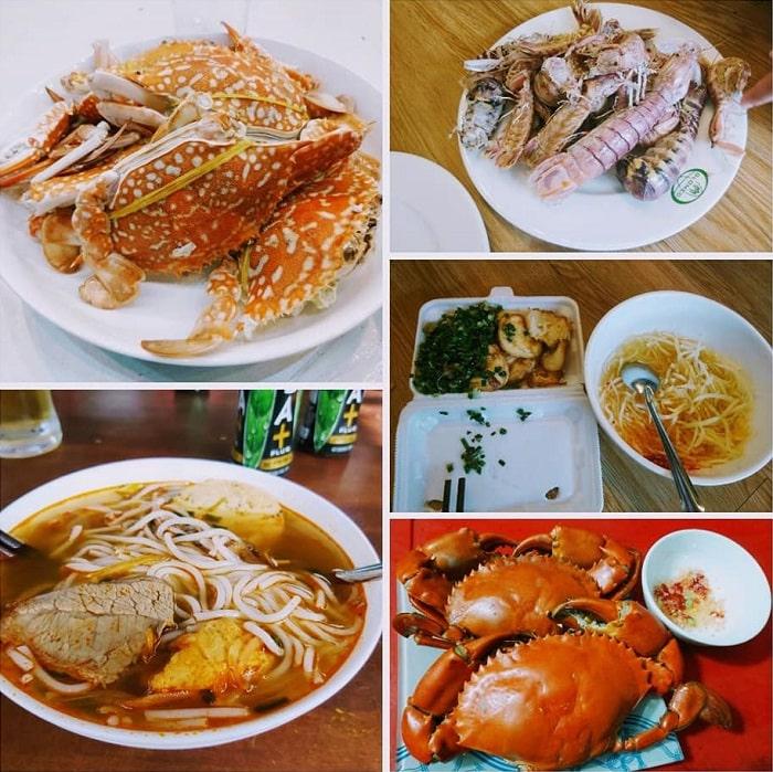 hải sản - ẩm thực đặc trưng tại biển Phước Hải Vũng Tàu