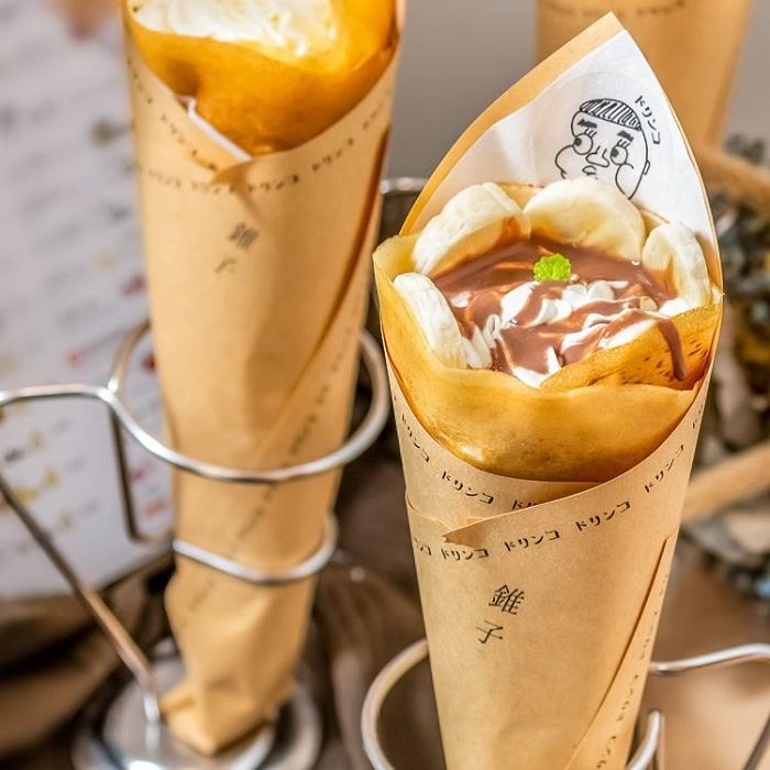 bánh crepe kiểu Nhật - món tráng miệng ngon tại phố ẩm thực Yongkang