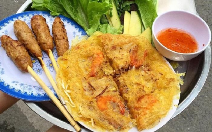 Bánh xèo Đức Thành - Quán ăn vặt ngon ở Thái Bình