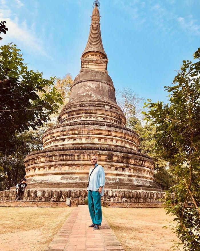 bảo tháp - công trình nổi bật tại đền Wat Umong