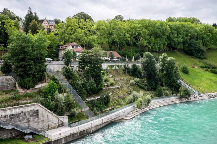 The 6000 square meter Bear Park in Bern - The tourist experiences of Bern Switzerland