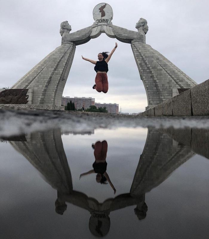 Unified archway - a unique Korean tourist destination
