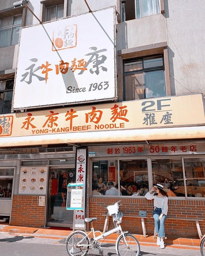cửa hàng mì bò Yongkang - của hàng nổi tiếng về mì bò tại phố ẩm thực Yongkang