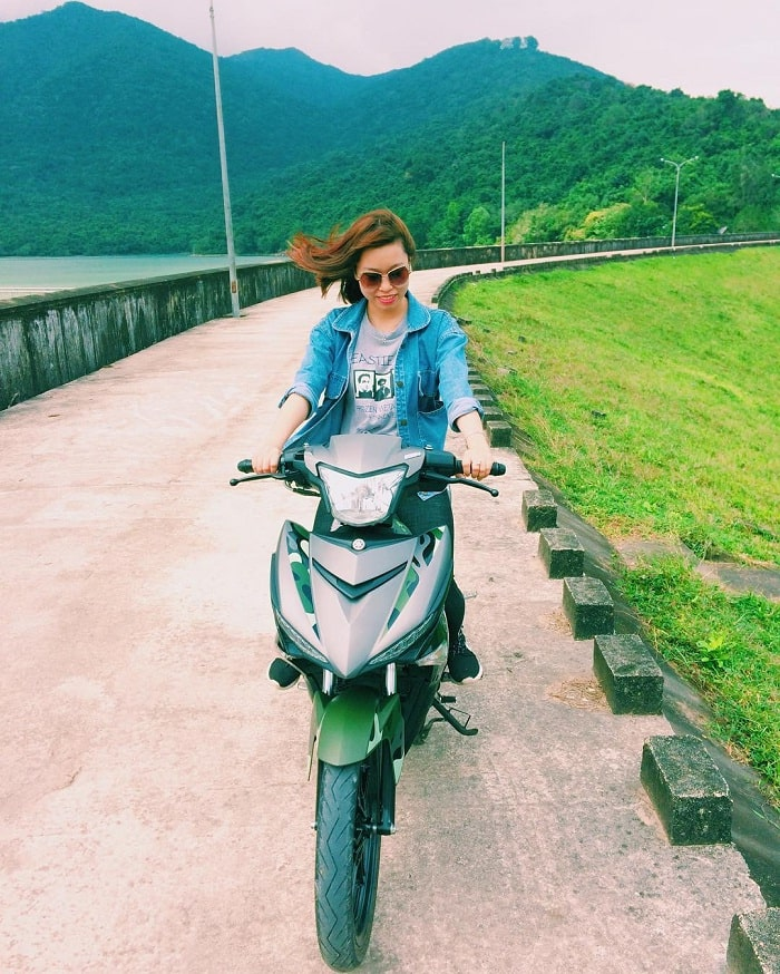 motorbike - means of transport to Quy Nhon Nui Mot Lake