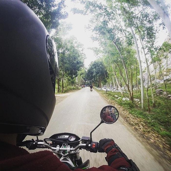 Khung cảnh trên đường tới núi Trầm