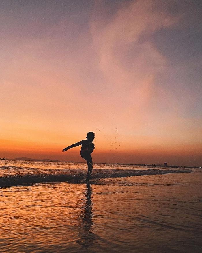 hoàng hôn - khung cảnh thơ mộng tại biển Phước Hải Vũng Tàu