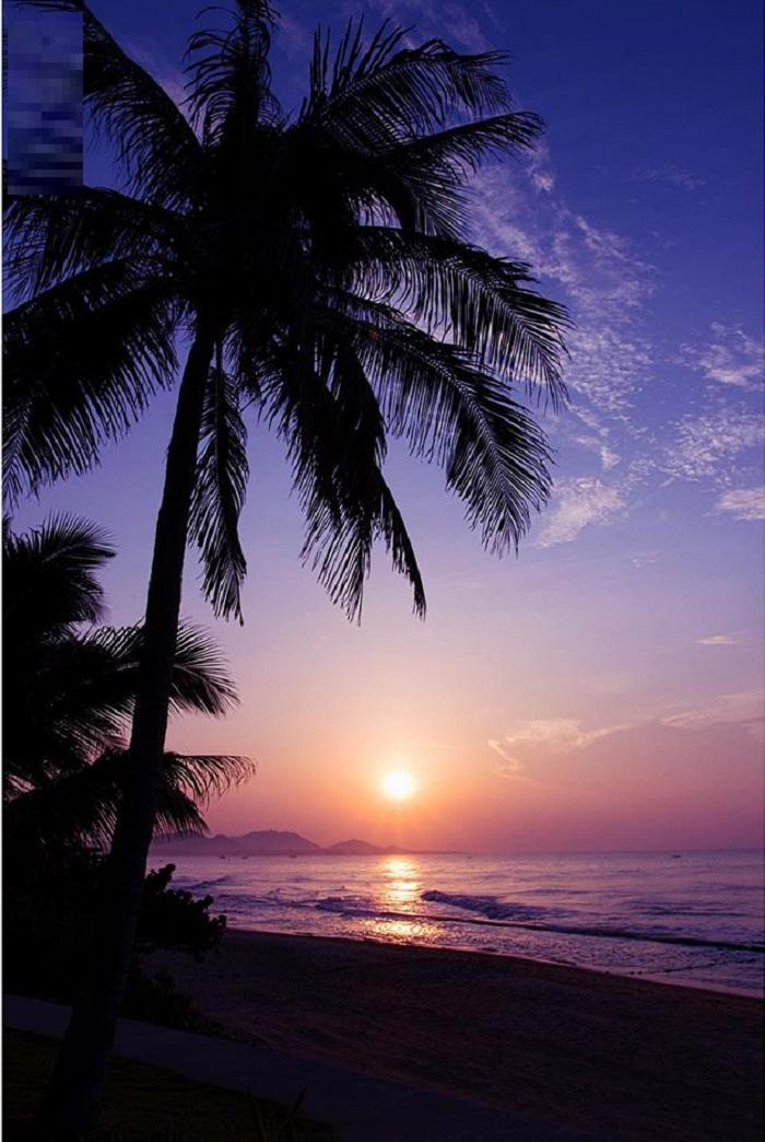 sunset - beautiful moment at Loc An Vung Tau beach