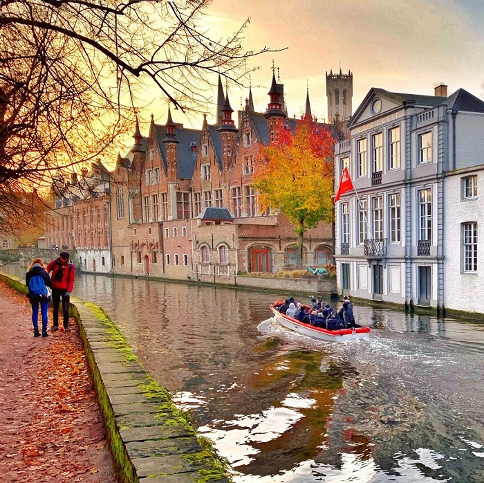 Canal in the Belgian city of Bruges