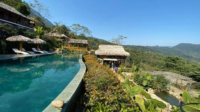 khu nghỉ dưỡng ở pù luông có bể bơi-puluong-eco Garden