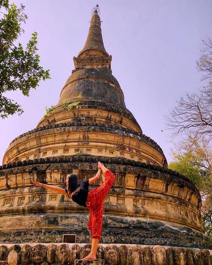 tòa bảo tháp - công trình ấn tượng của đền Wat Umong