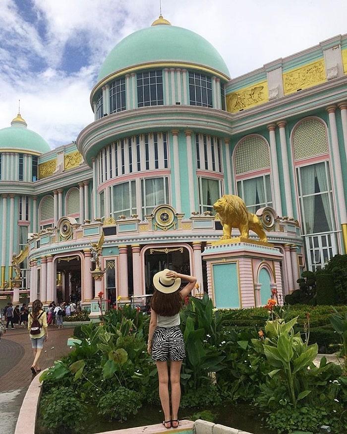 Main building at Thai billionaire's castle