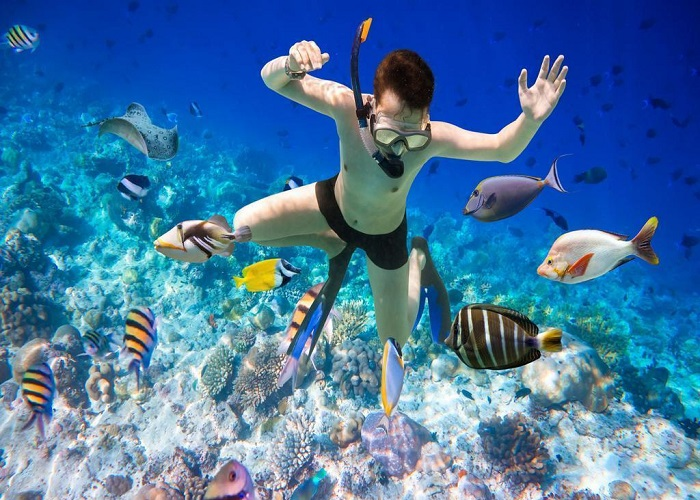 Lặn biển ngắm san hô ở Phú Quốc - hình thức lặn ống thở
