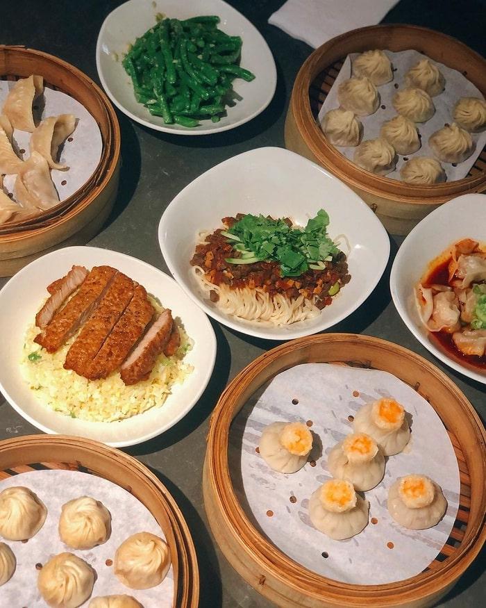 các món ăn ở quán ding tai fung - lựa chọn ưa chuộng tại phố ẩm thực Yongkang