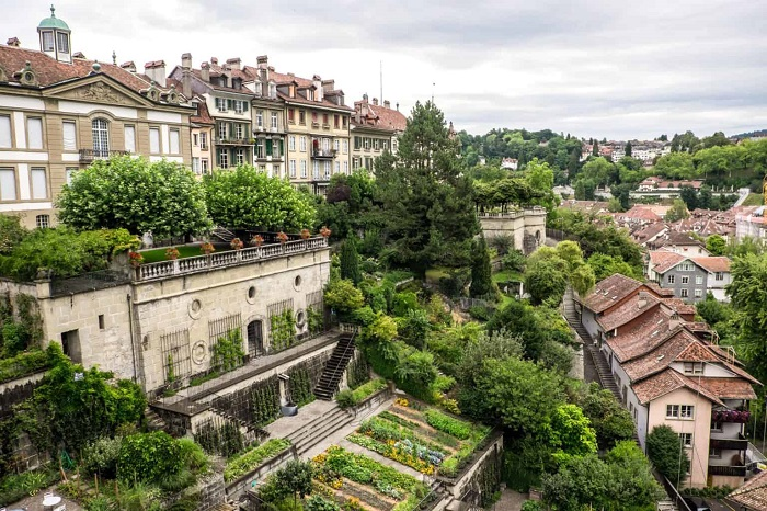 Seeing the city of Bern characterized by the red tile-roofed townhouses is one of Bern Switzerland's travel experiences