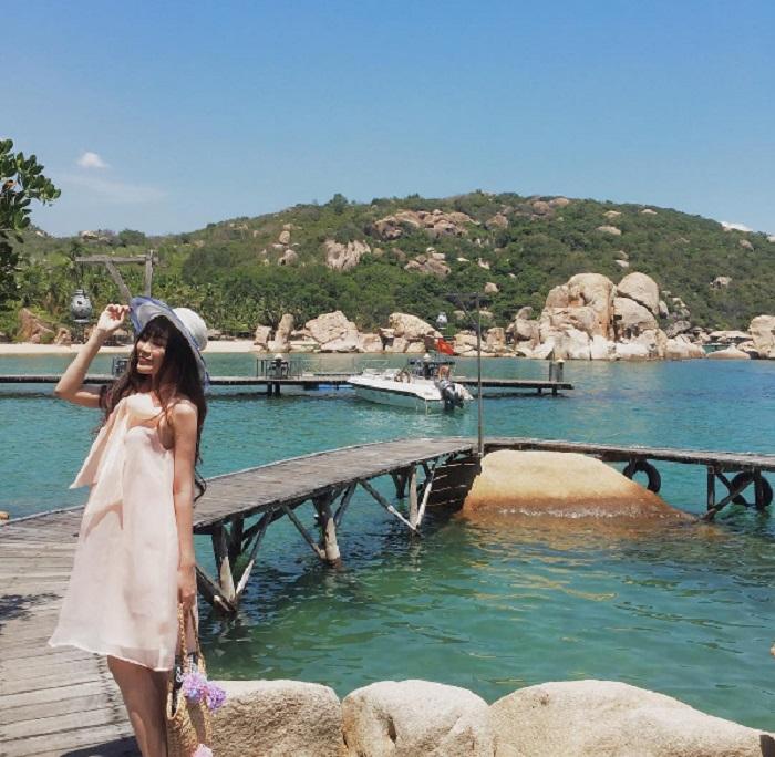điểm chụp ảnh đẹp ở Cam Ranh resort Ngọc Sương