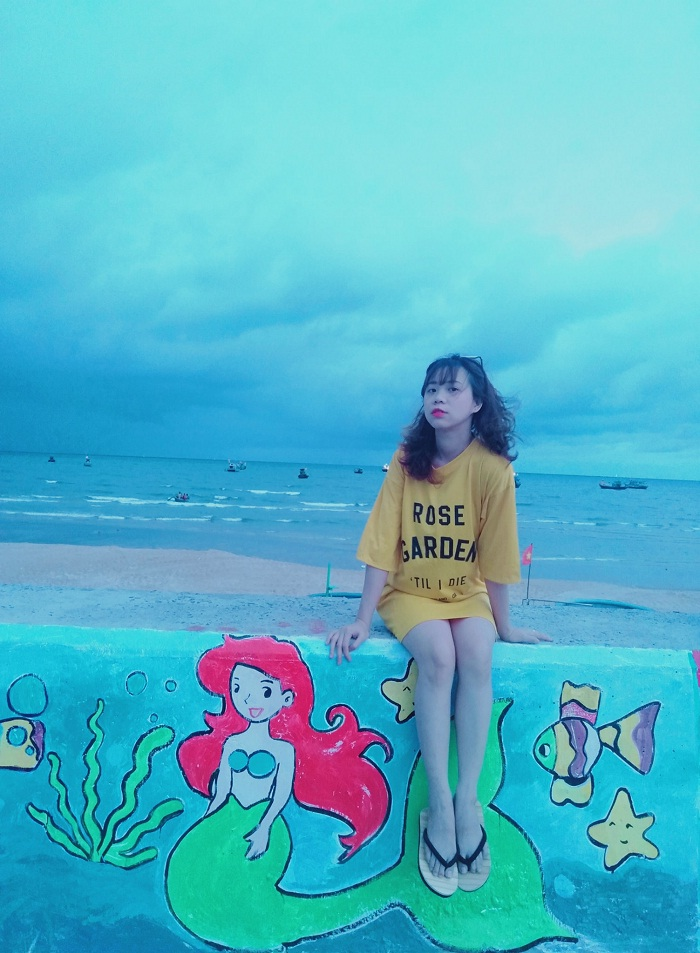 bức tường bích họa - nét đẹp tại biển Phước Hải Vũng Tàu