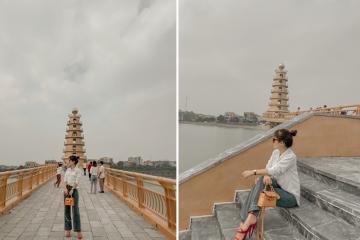 Phát hiện background sống ảo trên cây cầu đi bộ ở Việt Trì, Phú Thọ