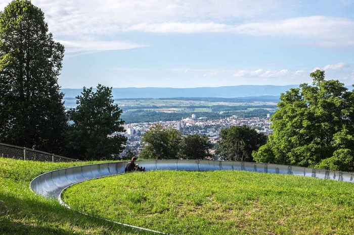 The place to start the 500m long mountain skate overlooking the city of Bern - The travel experiences of Bern Switzerland