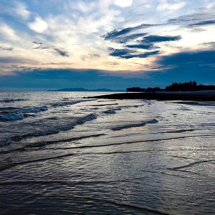 water waves at Loc An beach in Vung Tau