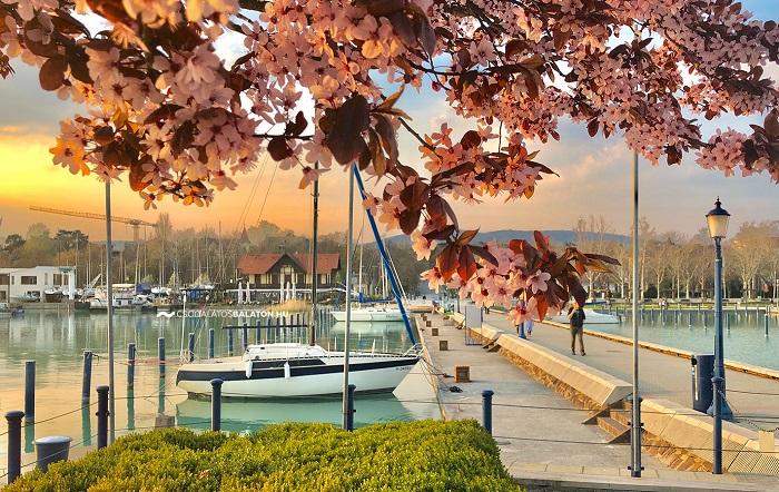 Công viên trên nước Balatonfured Hồ Balaton Hungary
