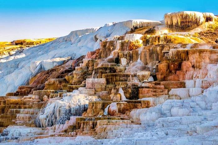 Suối nước nóng Mammoth Địa điểm du lịch Montana