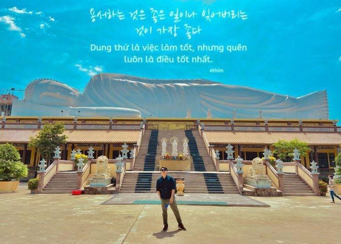 Ghé chùa Hội Khánh Bình Dương khám phá tượng Phật nằm dài nhất Châu Á