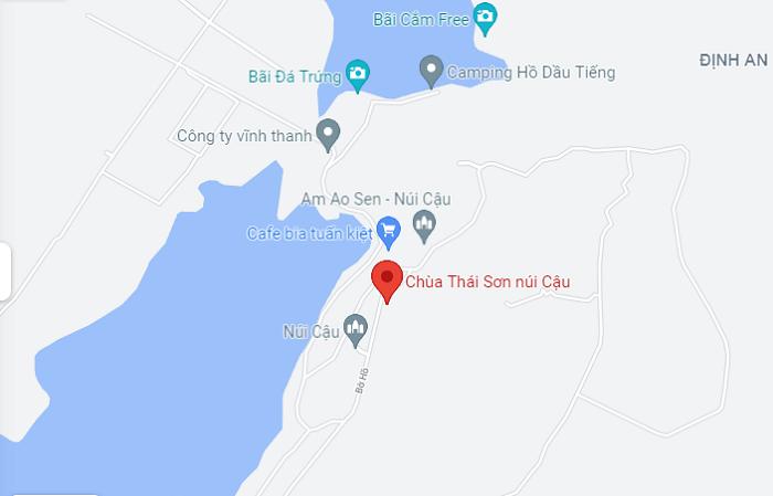 chùa Thái Sơn núi Cậu Bình Dương- di chuyển