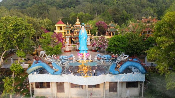 chùa Thái Sơn núi Cậu Bình Dương- địa chỉ