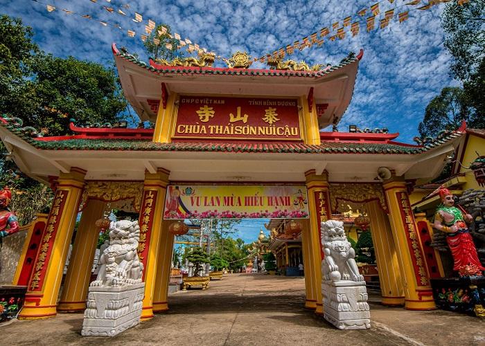 chùa Thái Sơn núi Cậu Bình Dương- ở đâu