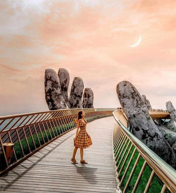 Golden Bridge - beautiful sunset spot in Da Nang