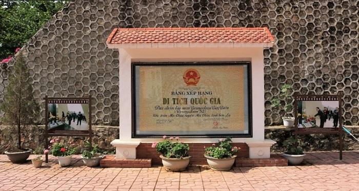 Di tích Lâm Viên Tây Tiến Mộc Châu được xếp hạng di tích quốc gia