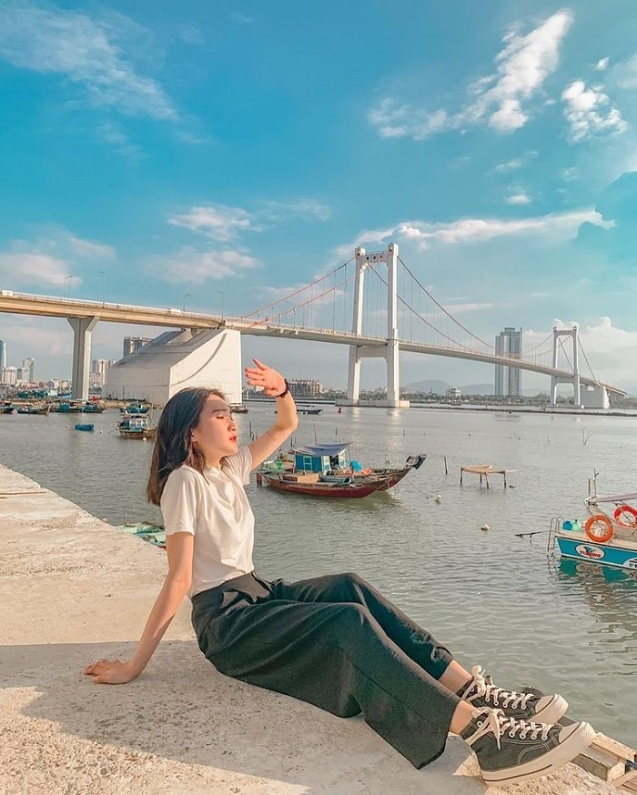 Thuan Phuoc Bridge - a favorite sunset spot in Da Nang
