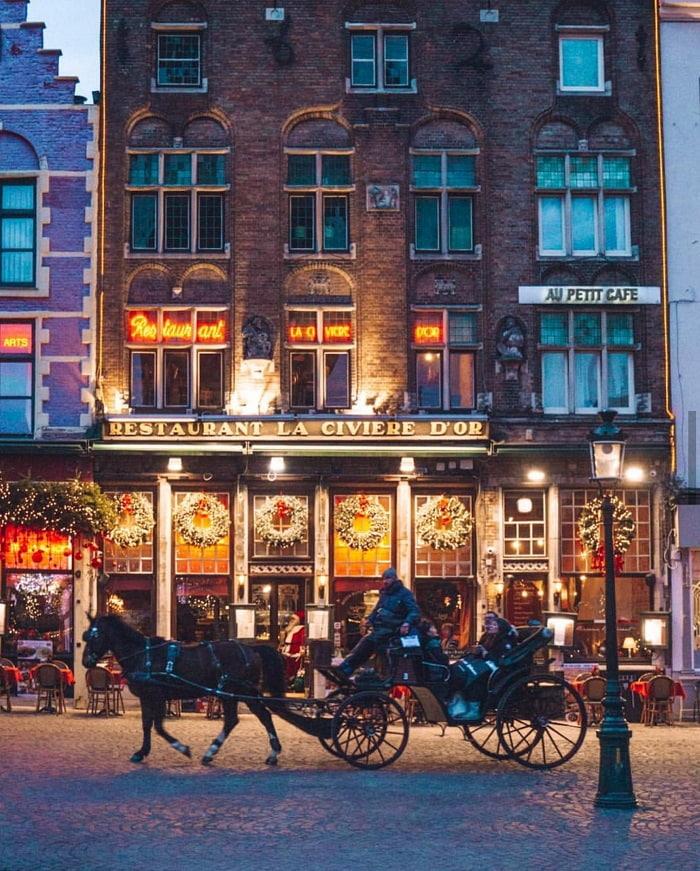 Thành phố Bruges Bỉ mùa Giáng Sinh
