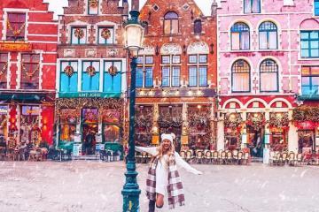 Cùng khám phá thành phố Bruges Bỉ trong mùa Giáng Sinh