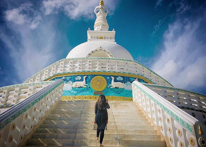 Shanti Stupa Stupa - the white pearl of India's 'Little Tibet'