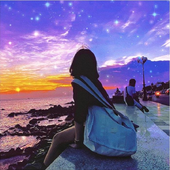 trời đêm huyền ảo tại  Bãi Dứa Vũng Tàu
