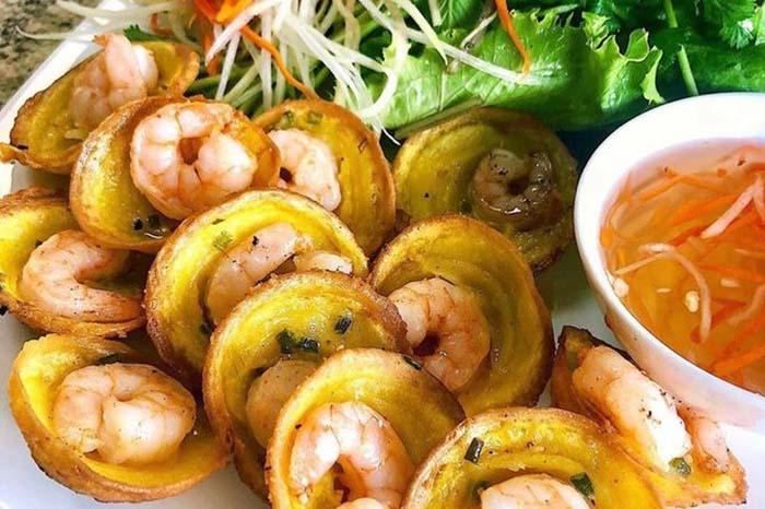 Check in khu du lịch Làng Bè Bến Tre - Bánh khọt